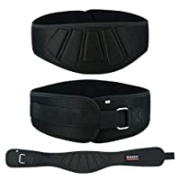 "Weight Lifting Belt in 6 Inches Wide Back Support for Power Weightlifting - Bodybuilding & Weight Training - Gym Workout Belt for Men Women (Black, X-Large: 43"" - 49"")"