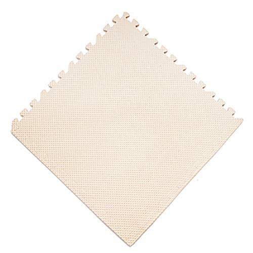 RMJAI Verriegelte Spielmatte Kinder Puzzle Blocking Board Spaß Erholung Kinder Spielmatten Weichen Schaum Übung Boden 11.8.x0.3in (Farbe : Beige, größe : 60Pcs) -