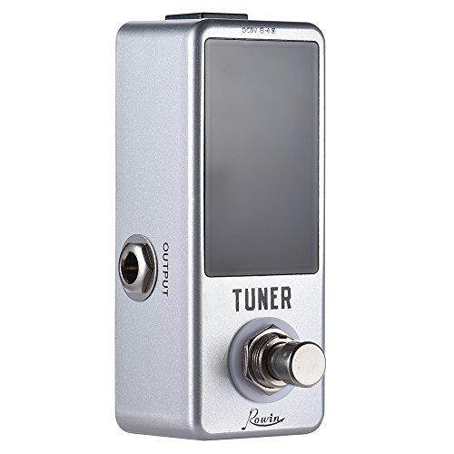 Ammoon Mini sintonizzatore cromatico, effetto a pedale, display LED True Bypass per basso, chitarra
