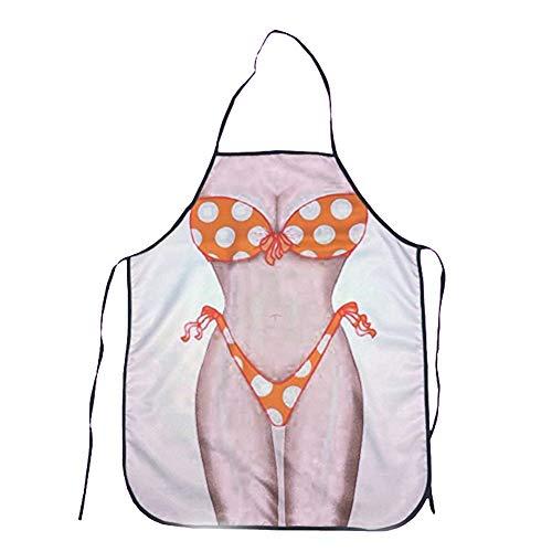 Xiton Applikation Polka Dot Bikini Sexy Küchenschürze Lustige Creative Cooking Schürzen für Frauen Damen Freundin Christmas Gifts -