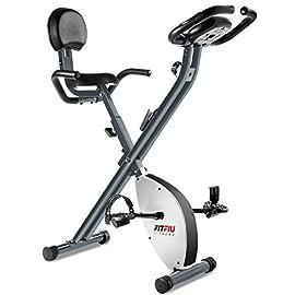 FITFIU Fitness BEST-220 - Cyclette pieghevole con schienale regolabile, Cardiofrequenzimetro e volano da 8 kg…