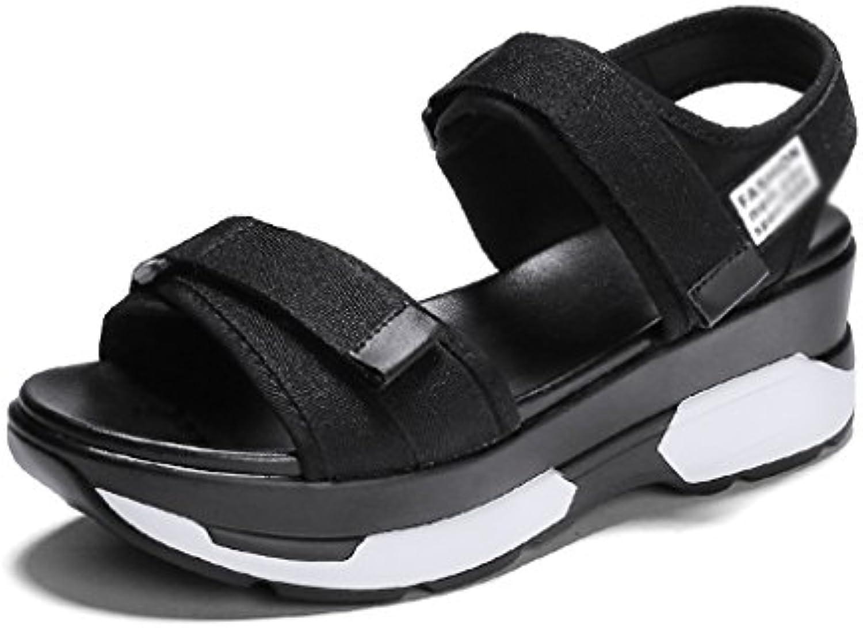Zapatillas de Mujer Sandalias de Tacón de Cuña de Verano al Aire Libre Zapatos de Moda de Playa Beach Pajaritas...