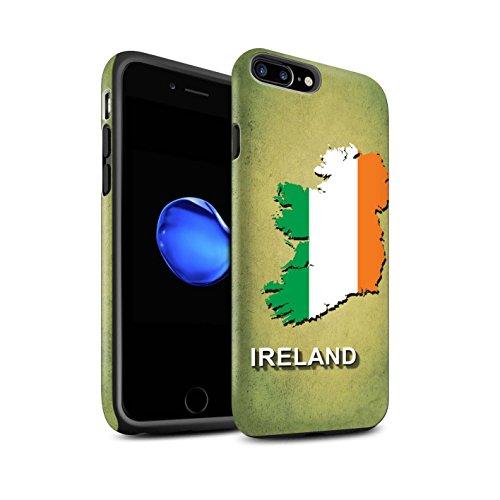 STUFF4 Matte Harten Stoßfest Hülle / Case für Apple iPhone 7 / Kroatien/Kroatische Muster / Flagge Land Kollektion Irland/Irisch