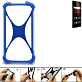 K-S-Trade Bumper Allview X3 Soul Lite Silikon Schutz Hülle Handyhülle Silikoncase Softcase Cover Case Stoßschutz, blau (1x)