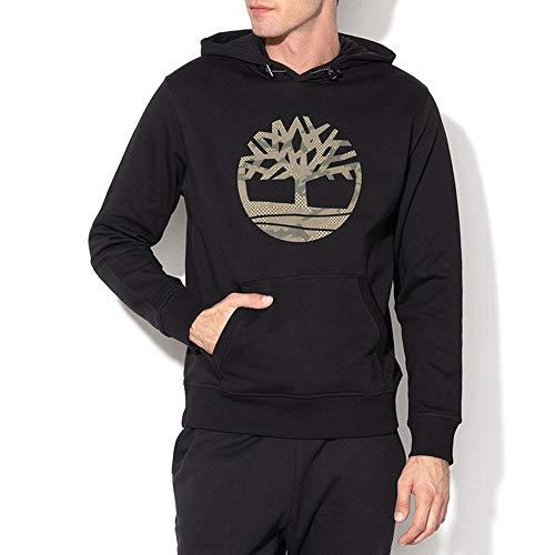 Timberland hoodie sweat felpa con cappuccio da uomo nero, l