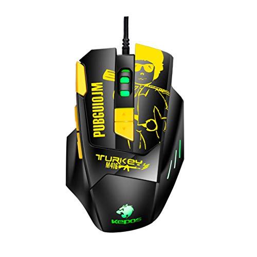 Hengzi BLOODBAT M416 Kabelgebundene Gaming-Maus 8 Tasten Ergonomisches Design 4800DPI Optische Mäuse -