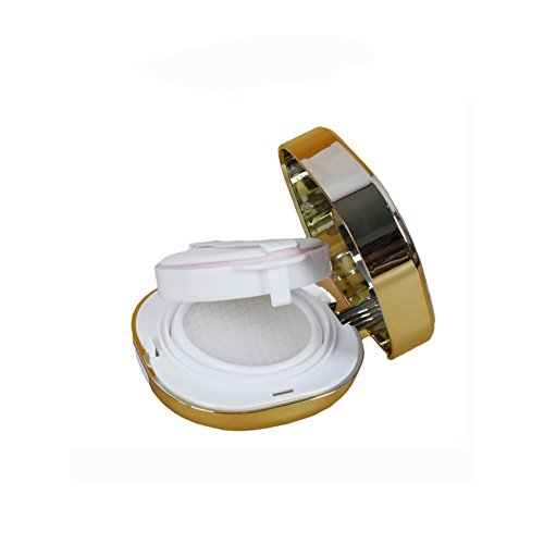 Carré 15 ml vide air portable Luxueux coussin fleur Boîte de teint liquide BB crème CC Récipient Support pour boîte à gâteau cas boîte de maquillage poudre avec Houpette Air Coussin éponge et miroir (Lot de 1)