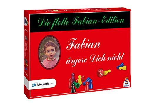 Persönliches Mensch ärgere Dich nicht als Namensgeschenk – in der Fabian-Edition als individuell gestaltetes Brett-Spiel