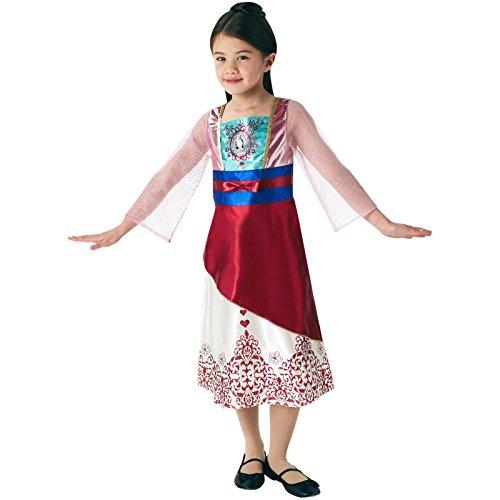 isney Princess Mulan Gem Kostüm, Mädchen, mittel (Jasmin Halloween-kostüm Amazon)