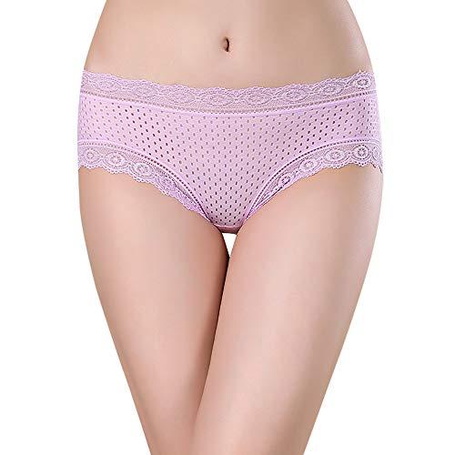 Kobay biancheria intima perizoma perizoma bragas sexy mutandine perizoma in pizzo parola pantaloni da donna(rosa,free size)
