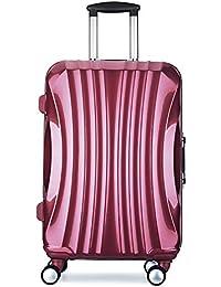 Maleta 4 ruedas ABS PC equipaje ligera 68x40x26 cm diamante maleta viaje
