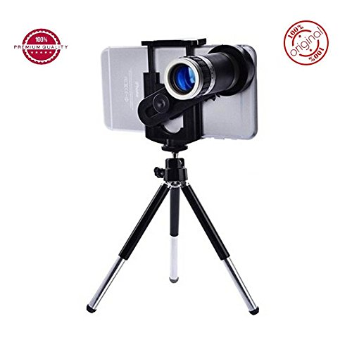 Easypro™ Motorola Moto Z2 Play Compatible Universal 8X Zoomer Optical Zoom Telescope Mobile Camera Lens Kit with Tripod and Adjustable Holder(Limited Stock)