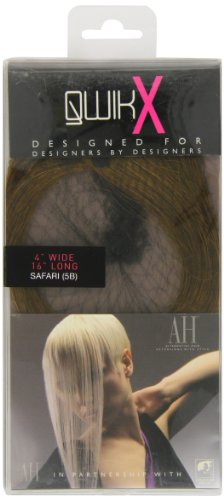 American Dream - AH/A1/QX/16/5B - Qwik X - 100% Cheveux Naturel - Indien Remi Extensions - Couleur 5B - Safari - 41 cm