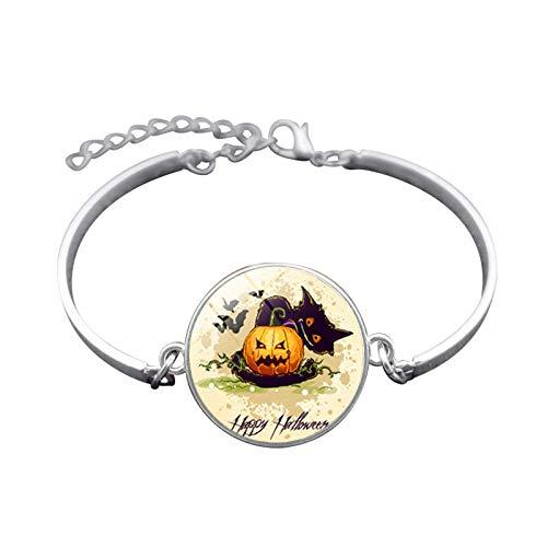 Blisfille Handgemachte Halloween Hexe Zeit Edelstein Armband Mode Armband Hand Link Day Herren Damen Geschenk