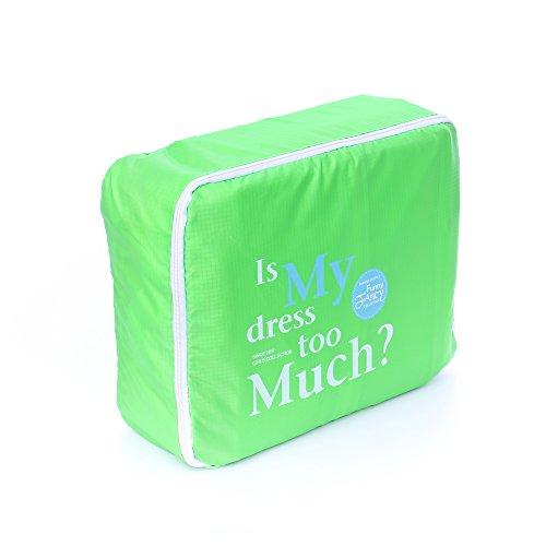 Shopper Joy Conjunto de 5 Bolsas de Equipaje Organizadores para Maleta Cubos de Embalaje para Viaje Vacaciones - Verde
