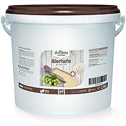 AniForte 100% reine Bierhefe 2500g - Naturprodukt für Pferde, Glänzendes, kräftiges Haarkleid, Vitale Haut, Allgemeinen Stärkung & Förderung der Kondition, Appetit-anregend, Vitamine & Mineralstoffe