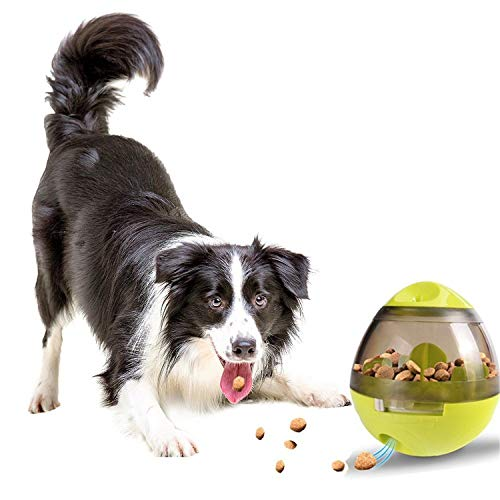Alimentador de comida para perros, Eshen Snack Ball para perro Juguete Slow Eating Food Dispenser Juguete Forrajeador Interactivo Alimentador para Perros-(Verde)