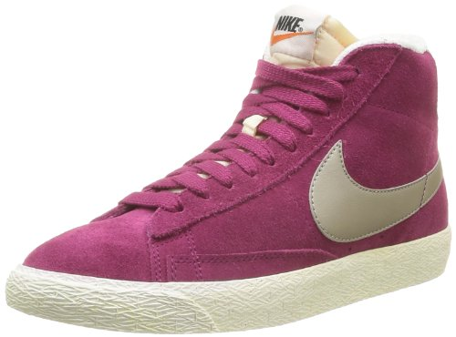 Nike Blazer Mid Suede Vintage 518171, Damen Hohe Sneakers, Rasberry Red-Metallic Zinc, 36.5