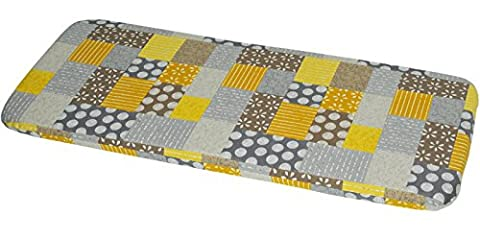 2 3 4 Seater Garden Bench Cushion Pad Replacement Zipped 100% Italian Cotton (3 SEAT, SUNNY SQUARES)