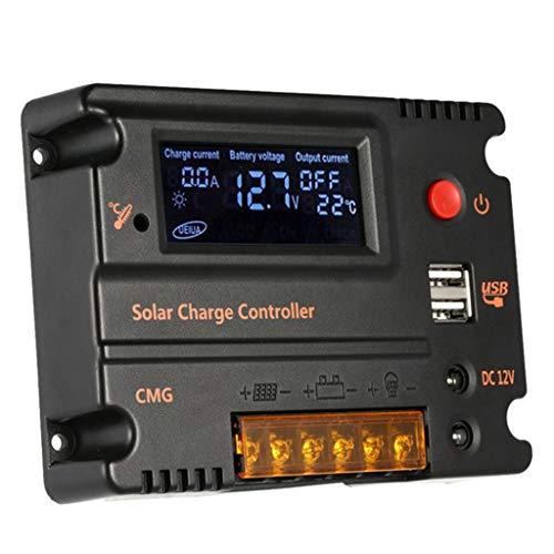 10A / 20A Laderegler 12V / 24V PWM mit Dual USB für Camper/Wohnwagen/Boot, Automatische Erkennung - 10A