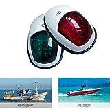 VIGORFLYRUN PARTS LTD 2pc LED Navigationslicht, 12V Bogen Navigation Lichter Signalleuchte Segeln Marine Boot Yacht LED Licht Edelstahl Rot & Grün