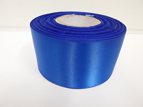 2-metres-of-50mm-2-satin-ribbon-royal-blue-double-sided-wedding-favours-decorative-easter-christmas