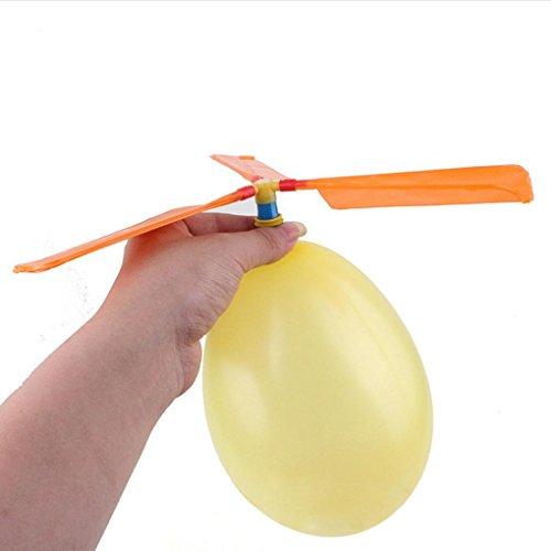 Elecenty Fliegende Spielzeug,Kinderspielzeug Ballon Hubschrauber Flugzeug Spielzeug Fliegen Luftballon Propeller Mitgebsel Kindergeburtstag für Kinder (130*37mm, zufällige Farbe)