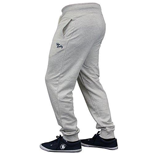 Homme Coupe Slim Bas De Jogging By Tokyo Laundry Avoine Gris - F7755