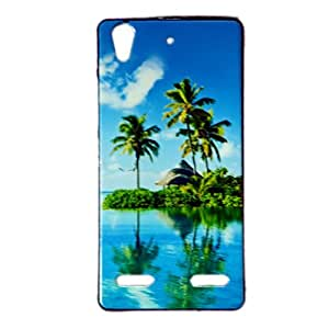 ksc sales New Sparkle Printed Silicon Soft Back Case Cover For Lenovo A6000 / A6000 Plus