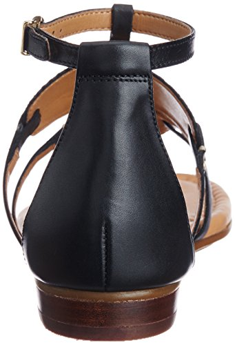 Clarks - Viveca Athen, Sandali Donna Nero (Noir (Black Leather))