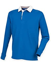 Front Row Sportswear lange Ärmel Baumwolle Tees/Top Premium Superfit Rugby-Shirt