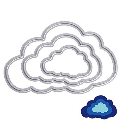 FXCO Wolken Form Kohlenstoffstahl Cut Stanzform Schablone DIY Scrapbook Album Handwerk Karte