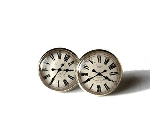 Orologio Vintage Orologio Orecchini, Orecchini, Orecchini a lobo, orecchini con perno, Orologio, Or