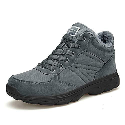 TORISKY Hombre Mujer Botas de Nieve Invierno Aire Libre Zapatos Impermeable Antideslizante Calientes Botines Planas 36-46EU(6919-Grey43)
