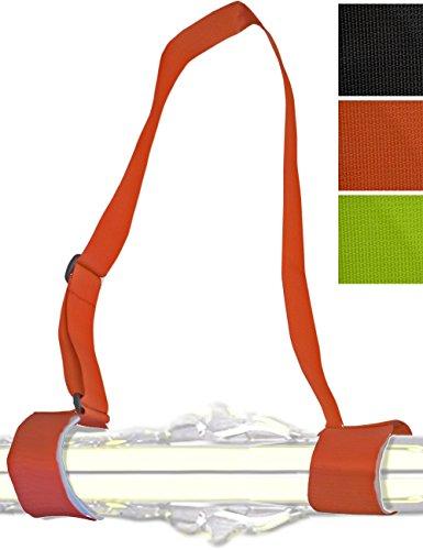 Glamia HOMETOOLS.EU® - Ski Trage-Gurt | Trage-Riemen, Trage-Schlaufen, Schultergurt für Ski und Ski-Stöcke | Carving-Ski, Touren-Ski, Langlauf-Ski | rot