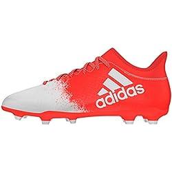 adidas X 16.3 FG, Botas de fútbol para Mujer, FTWR White/Solar Red, 42 2/3 EU