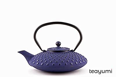 teayumi–Chiyo/Théière en fonte Kambin 0,8l bleu