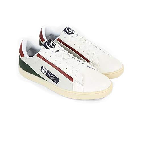 Sergio tacchini scarpe uomo sneakers pelle bianca stm828001/03