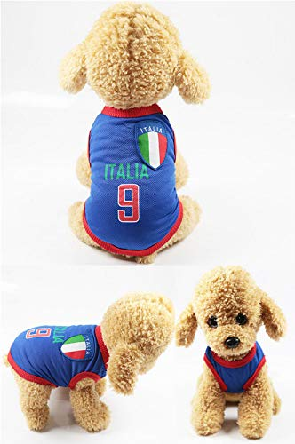 Fußball-Basketball-Anzug Frühjahr Und Sommer Hund Kleidung Tierkleidung Vest Team Ballanzug 6XL Italien Basketball-fleece-sweatshirt
