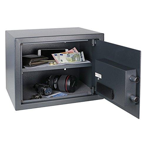 HMF Tresor Safe Möbeltresor Elektronikschloss 380 x 300 x 300 mm - 3
