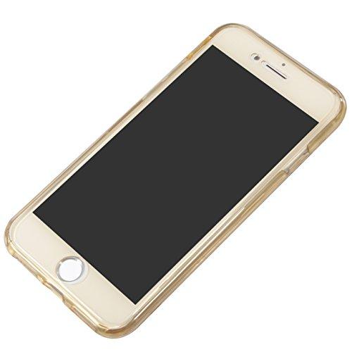 iPhone 8 Hülle,iPhone 7 Hülle, Vandot iPhone 8/7 4.7 Zoll Hülle TPU Case Schutzhülle Silikon Crystal Case Durchsichtig,Glänzend Glitzer Kristall Mädchen Fee TPU Silikon Schutz Handy Hülle Case Tasche  Klar Gold