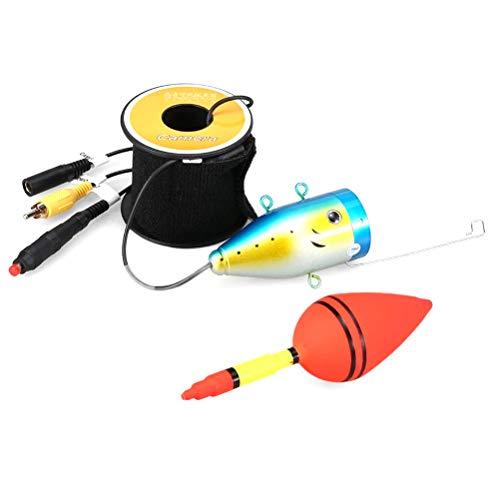 koowaa 1000TVL Unterwasser-Angelkamera-Set, 12 LED-Lampen, Video-Fischfinder für Eissee und Bootsangeln