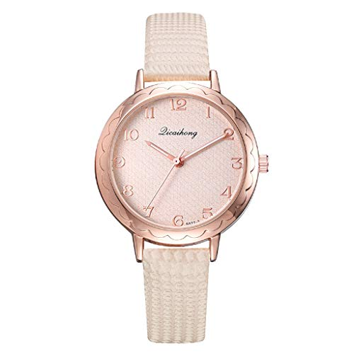TWISFER Damen Uhren, Frauen Mädchen Elegant Analog Quarz Armbanduhren Mode Trend Minimalistisches Freizeit Watch Lederband
