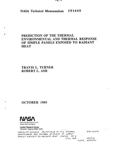 Prediction of the thermal environment and thermal response of simple panels exposed to radiant heat (English Edition) -