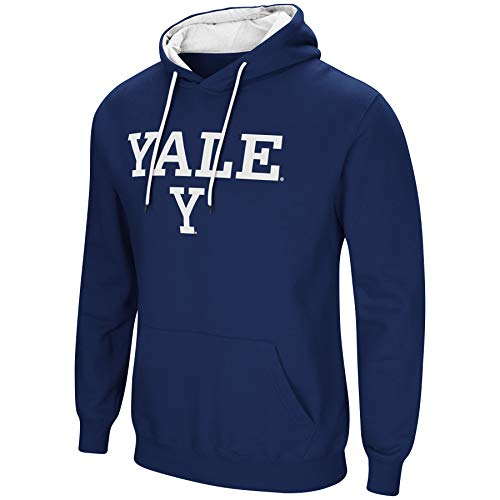 Colosseum NCAA Herren Cold Streak Dual Blend-Fleece Kapuzenpullover Sweatshirt mit Tackle Twill Bestickt Teamname und Logo-Team Farben, Herren, Yale Bulldogs-Yale Blue, X-Large Bulldogs Fleece-sweatshirt