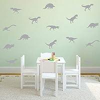 Cartoon Cute Grey Dinosaur Wall Sticker Art Decoration Bedroom Living Room Children Room Animal Wall Sticker
