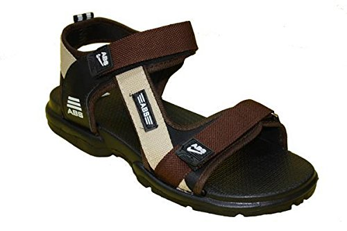 ABS Men's Brown Synthetic Sandals & Floaters (SAND-HYP-BR-06) - (6)  available at amazon for Rs.319