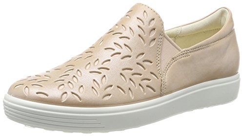 Ecco Damen Soft 7 Ladies Slip on Sneaker, Beige (Powder), 38 EU