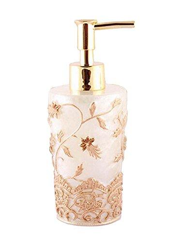 [Broderie Or] Creative Resin Distributeur de savon Lotion Bouteille