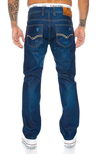 Rock Creek Herren Jeans Hose Denim Stretch Jeanshose Stonewashed W29-W44 LL-314 Blau